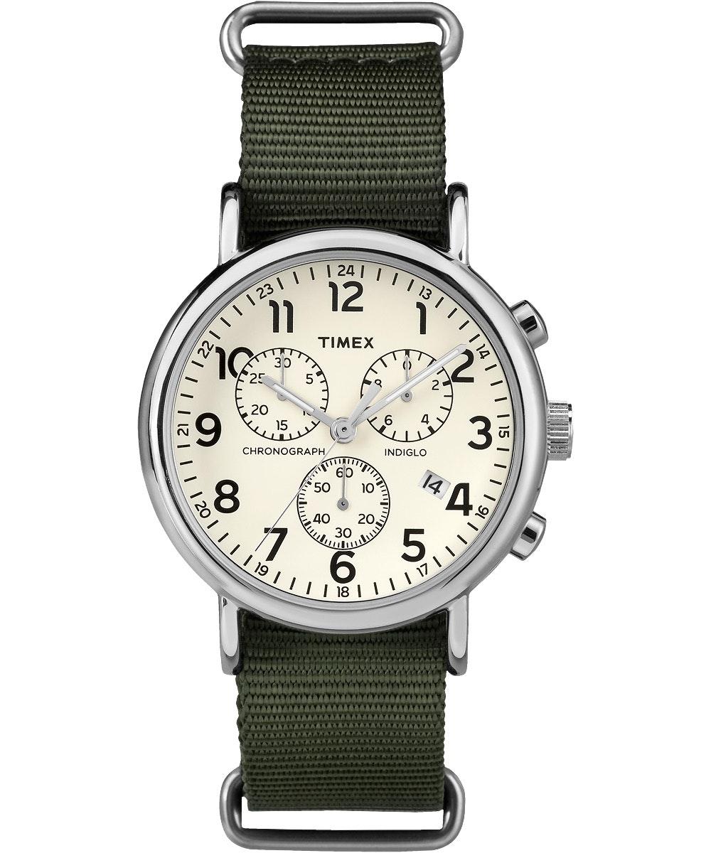 White dial, green nylon strap TW2P71400 (-$2)