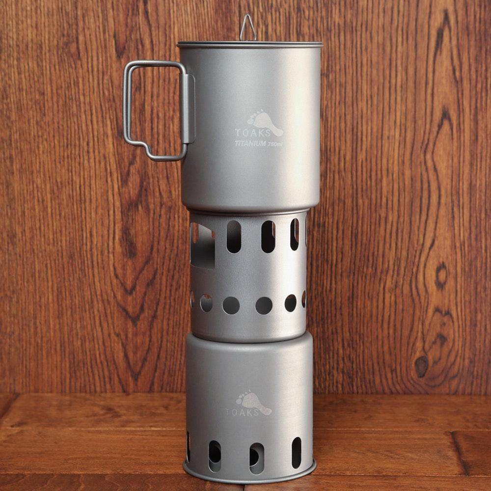 Toaks Titanium Small Wood Stove and Pot