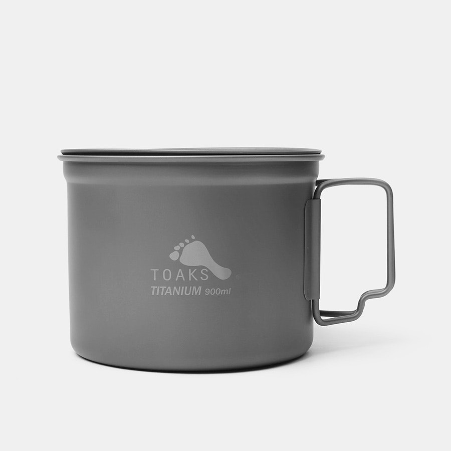 Toaks Titanium Alcohol Stove & 900ml Pot Cook Set
