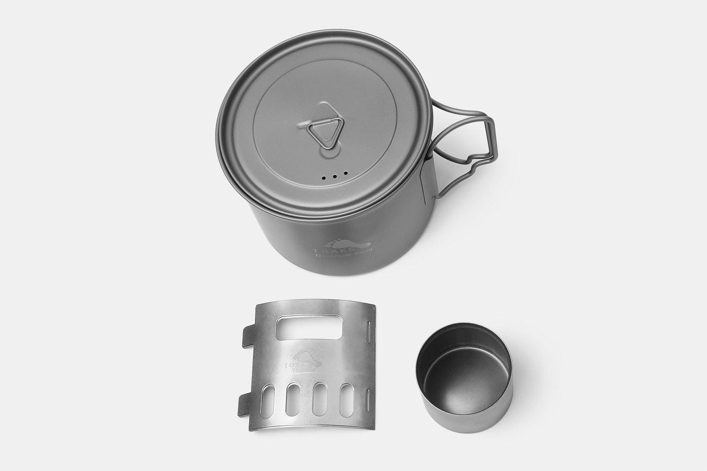 Toaks Titanium Alcohol Stove & 900ml Pot Cook Set