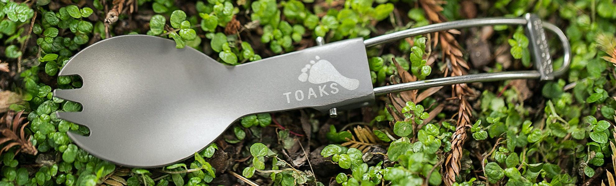 Toaks Titanium Folding Spork (3-pack)