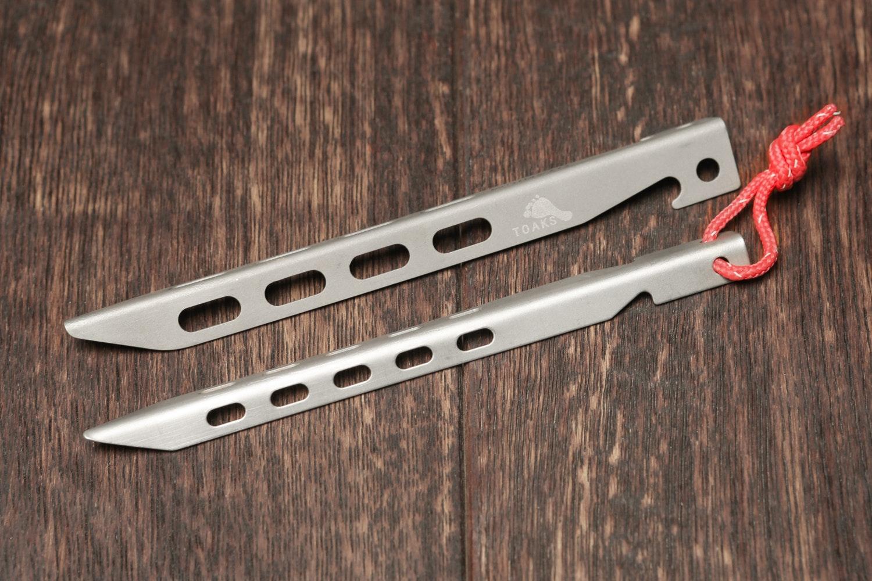 Toaks Titanium Larger V-Shaped Peg (6-pack)