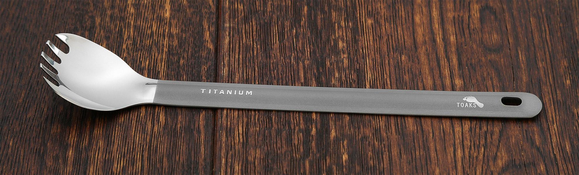 Toaks Titanium Long-Handle Spork (2-Pack)