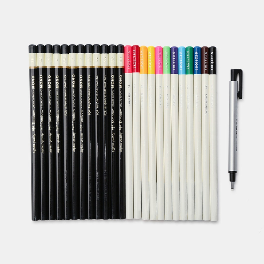 Tombow Irojiten Colored & Drawing Pencil Set Bundle