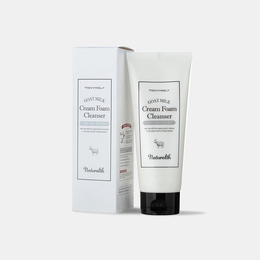 Tony Moly Naturalth Goat Milk Cream Foam Cleanser