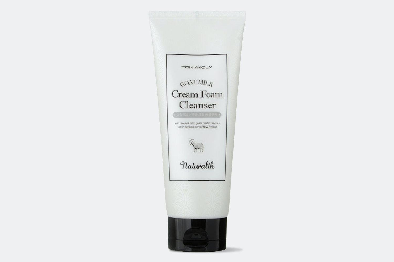 Tony Moly Naturalth Goat Milk Cream Foam Cleanser