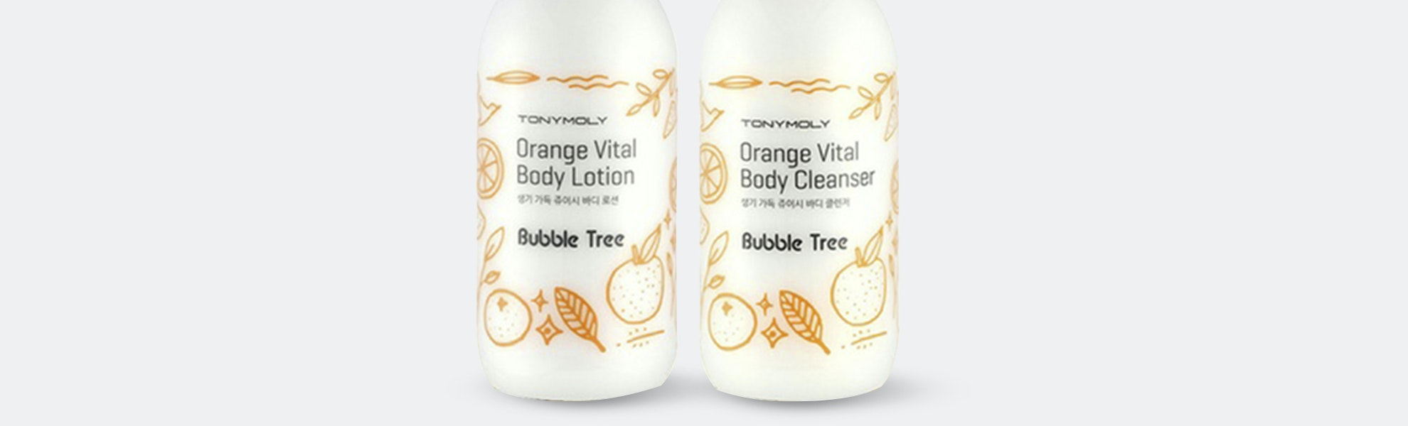 Tony Moly Orange Vital Body Cleanser & Lotion Set