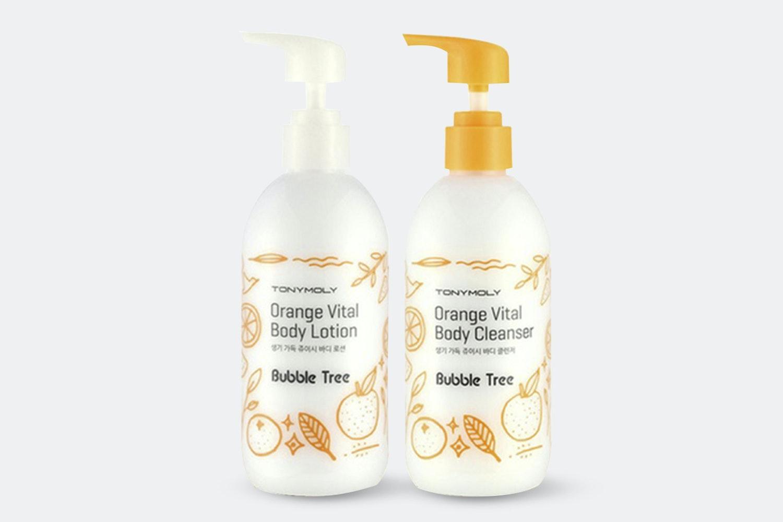 Tony Moly Orange Vital Body Cleanser & Lotion Set