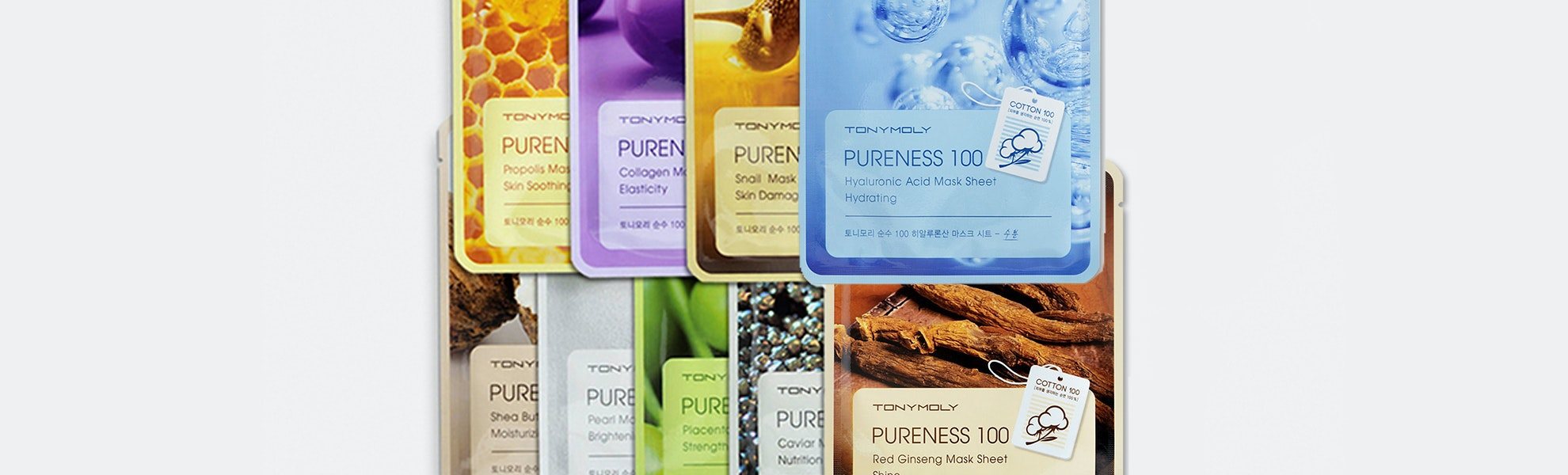 Tony Moly Pureness 100 Assorted Masks (10-Pack)