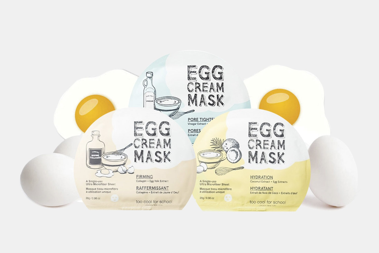 Too Cool for School Egg Cream Masks (5-Pack)