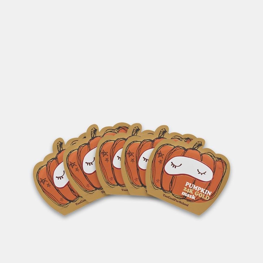 Too Cool for School Pumpkin 24K Gold Masks