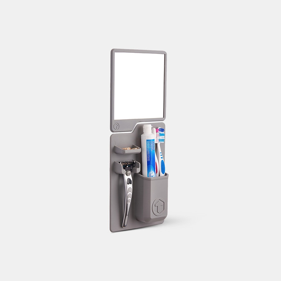 Tooletries Toothbrush Holder & Mirror Pack