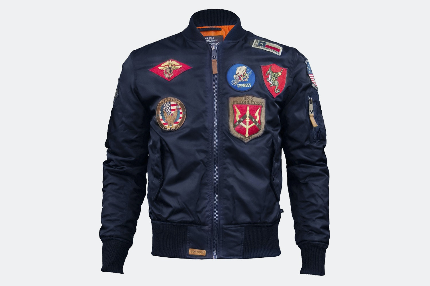 MA-1 nylon bomber with patches - Navy (+ $15)