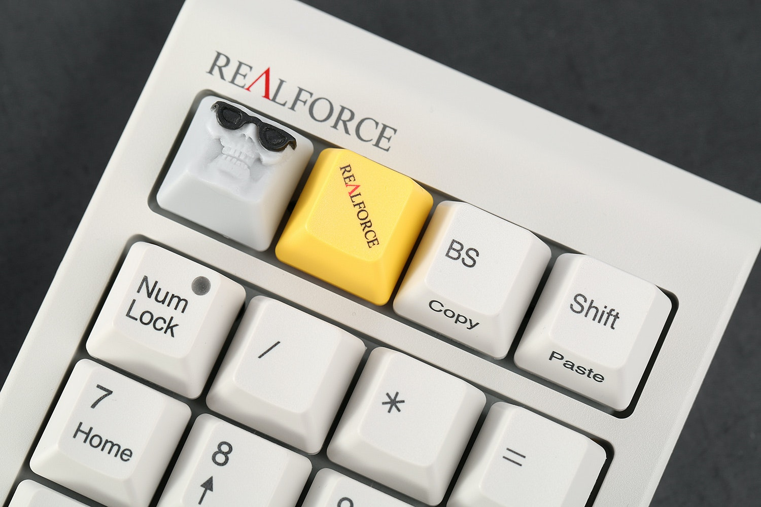 Topre Realforce Numpad with Custom Bingecap