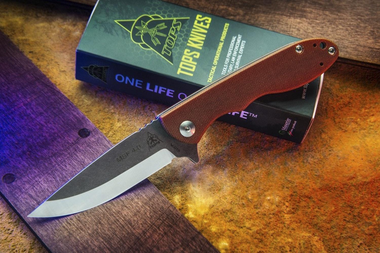 TOPS Mini Scandi Folding Knife