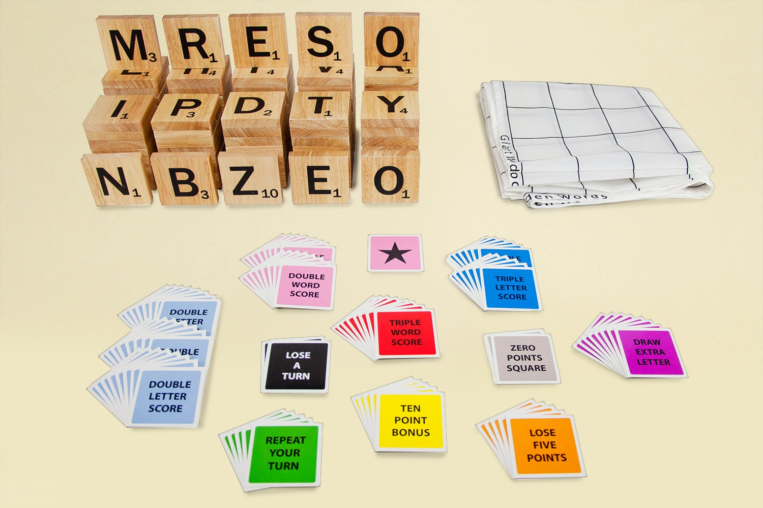 Tosso Outdoor Giant Wooden Words Game