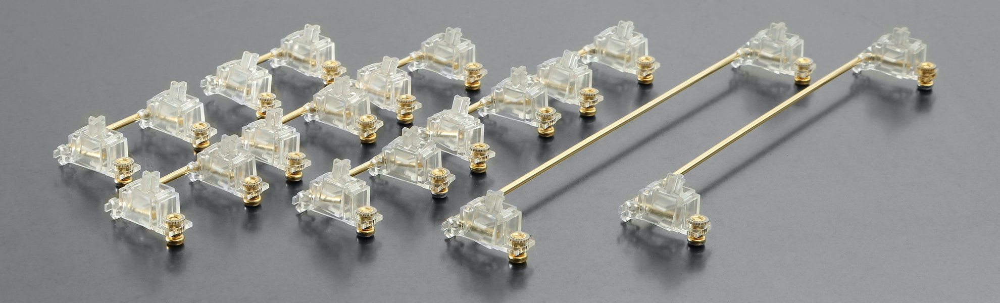 Transparent Gold-Plated PCB Screw-in Stabilizers