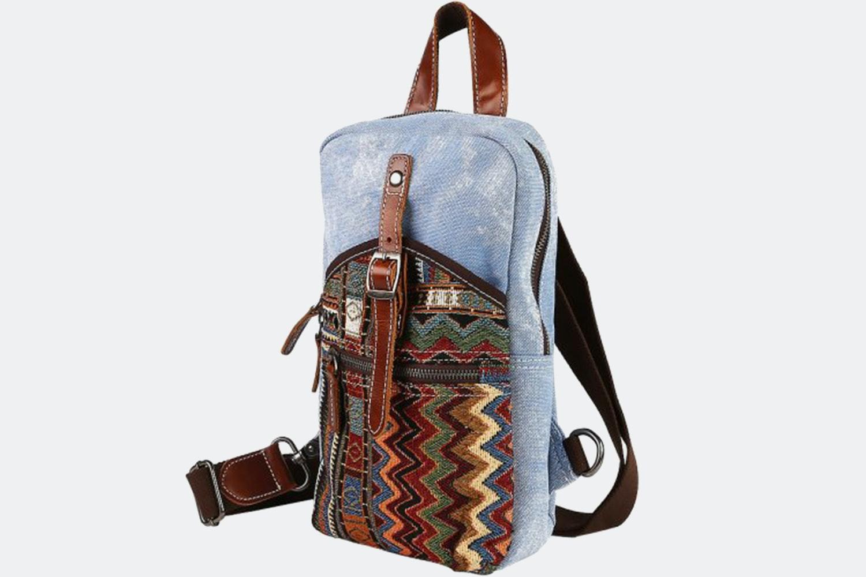 Cross-Body Shoulder Bag - Blue