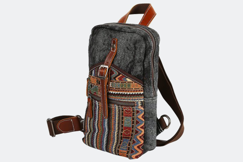 Cross-Body Shoulder Bag - Dark Gray