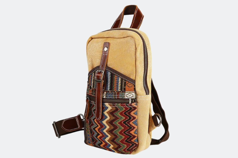 Cross-Body Shoulder Bag - Khaki