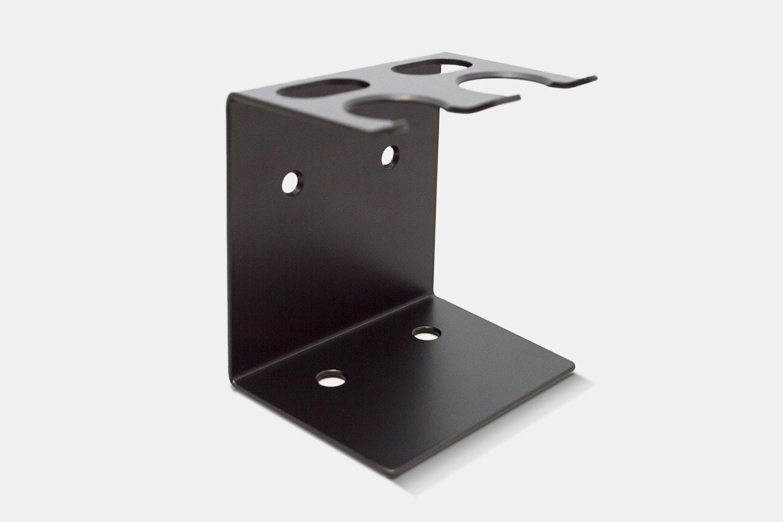 Dual Brush and Razor Stand – Black (+ $21)
