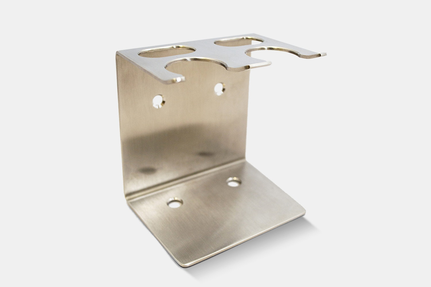 Dual Brush and Razor Stand – Stainless Steel (+ $28)