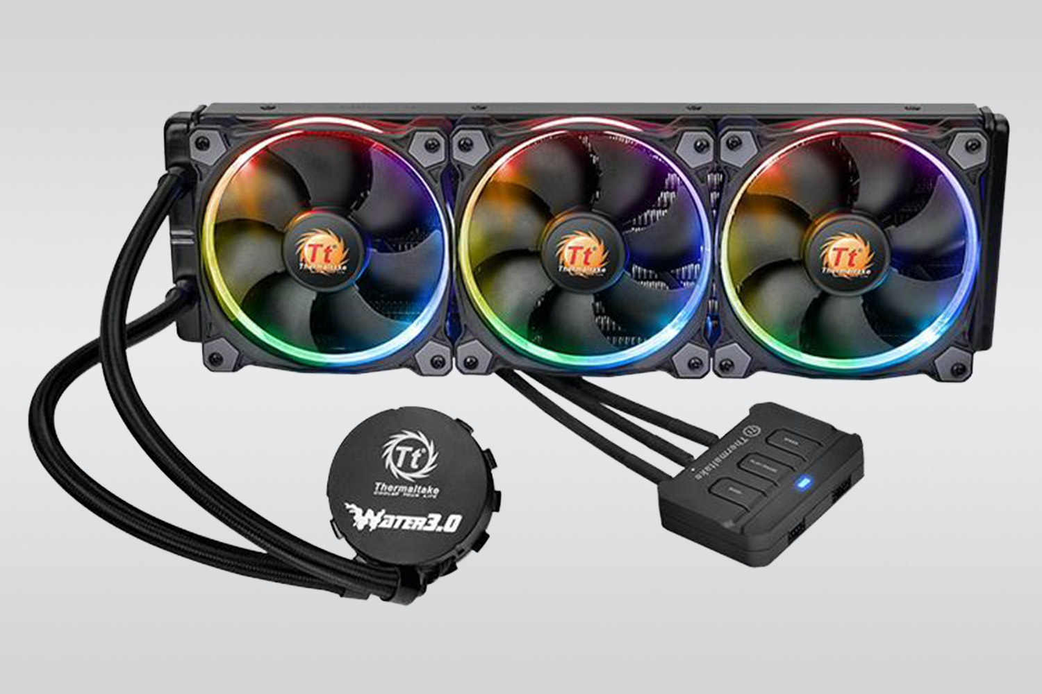 Triple-fan Water 3.0 Riing RGB 360 (+ $30)
