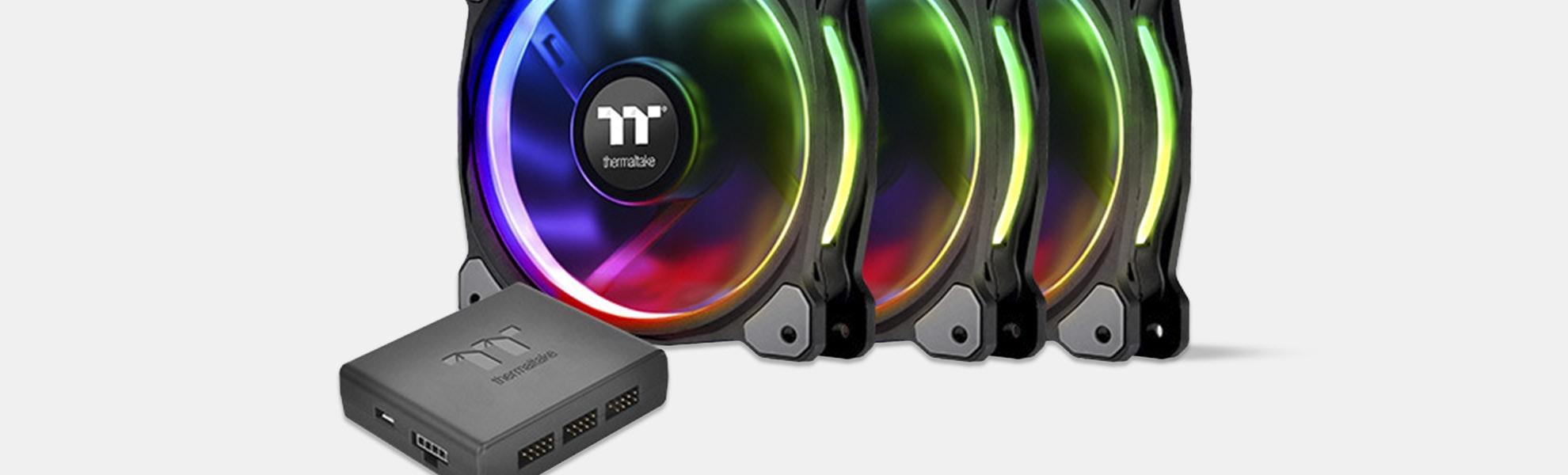 TT Riing Plus Premium LED RGB Radiator Fans (3pack)