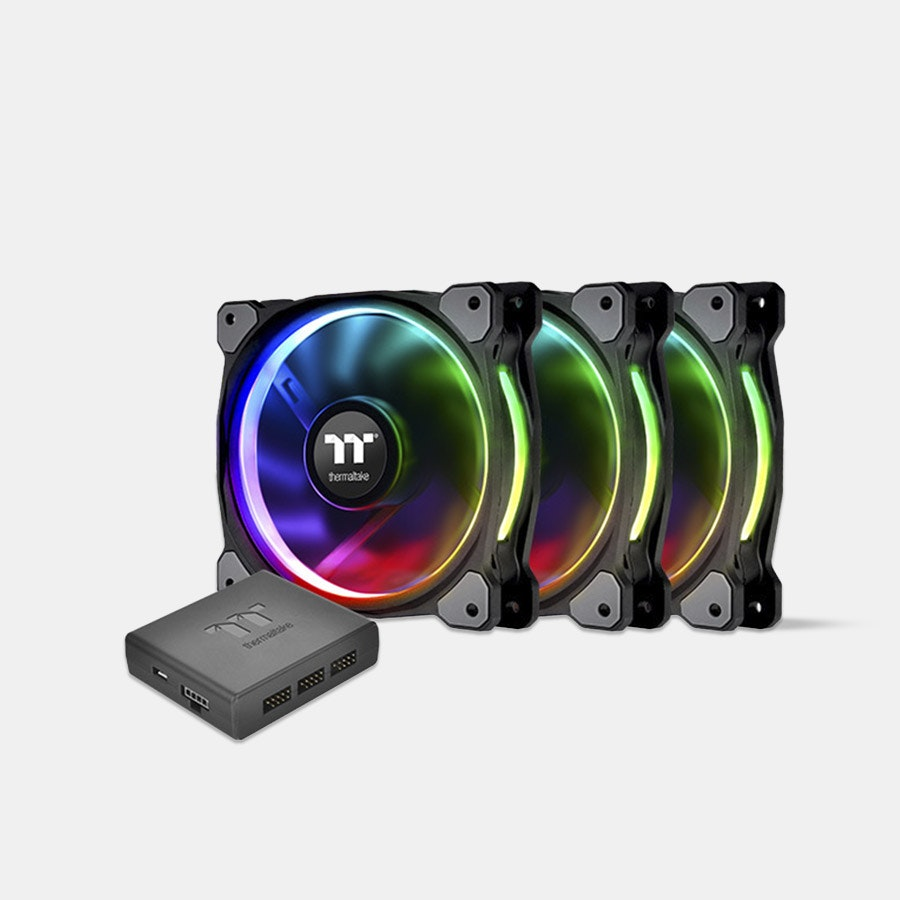 TT Riing Plus Premium LED RGB Radiator Fans (3pack)