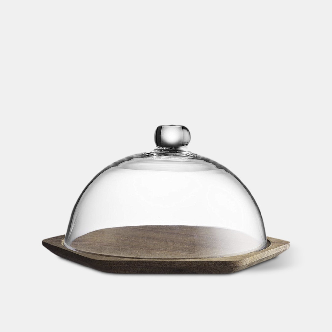 Typhoon Modern Kitchen Acacia Wood Cheese Dome