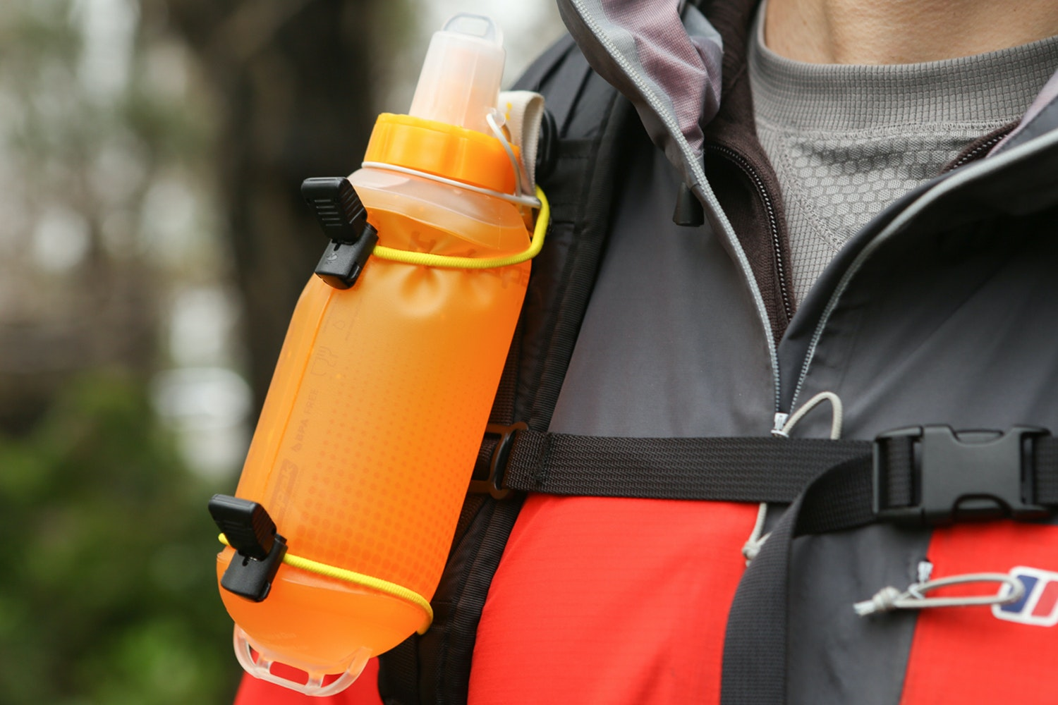 Removable water bottle straps
