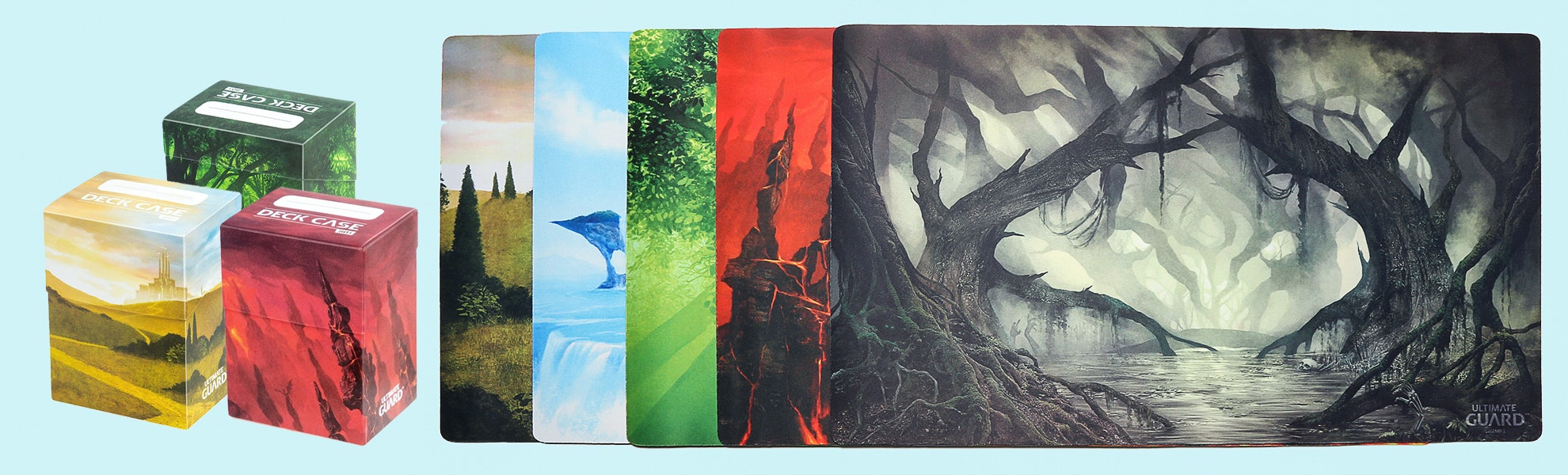 Ultimate Guard Lands Playmats & Deck Case Bundle
