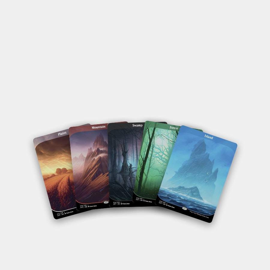 Unstable Full-Art Borderless Land Cards (10-Pack)