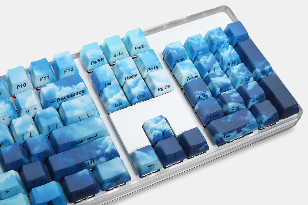 Up in the Clouds PBT All Over Dye-Subbed Keycap Set
