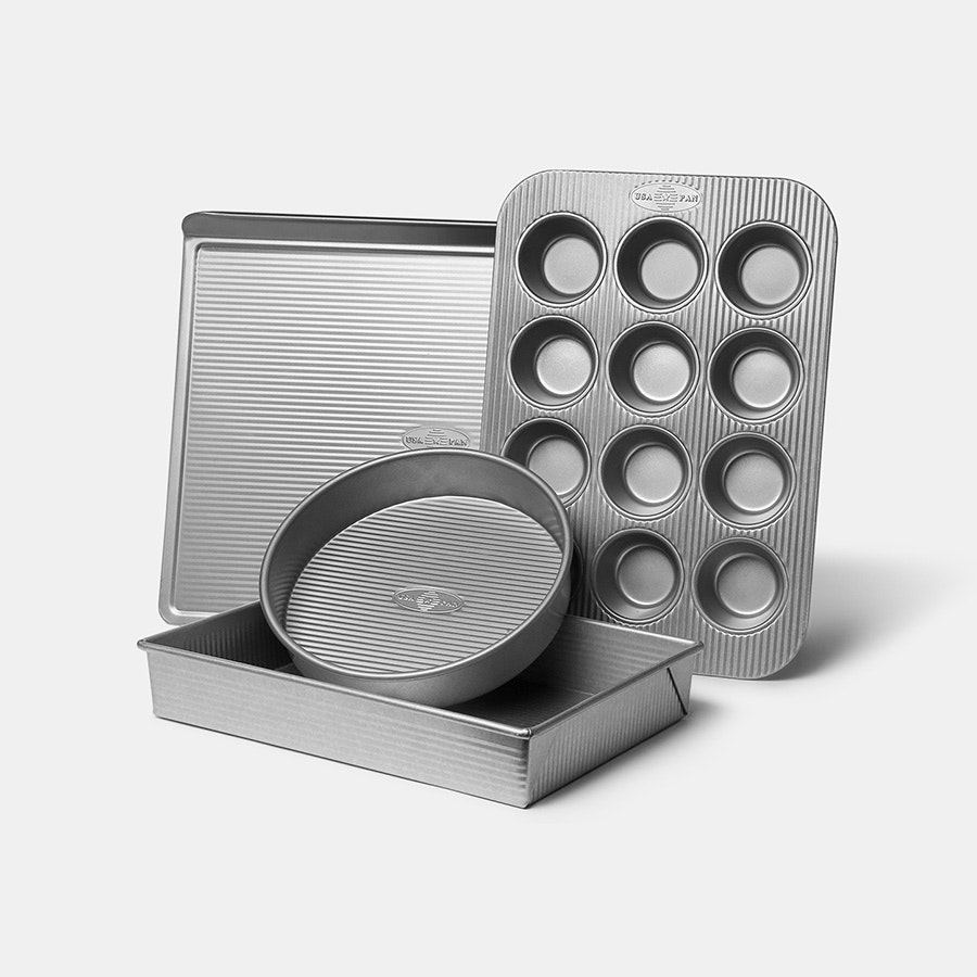 USA Pan 4-Piece Bakeware Set