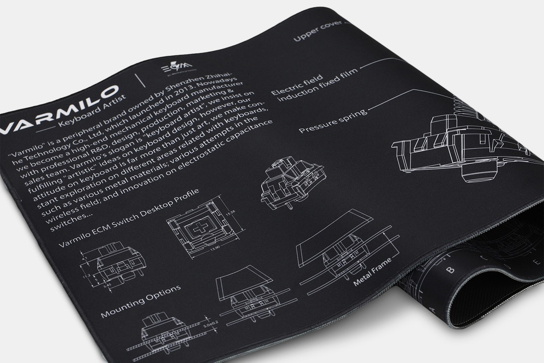 Varmilo Extra-Large Electro-Capacitive Cloth Desk Mat