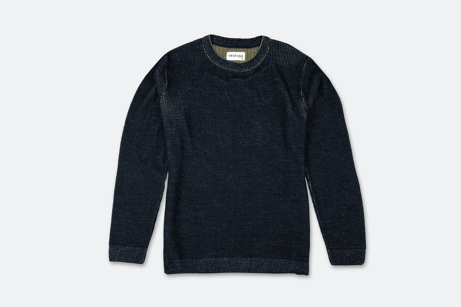 Two Tone Crew Jumper - Navy