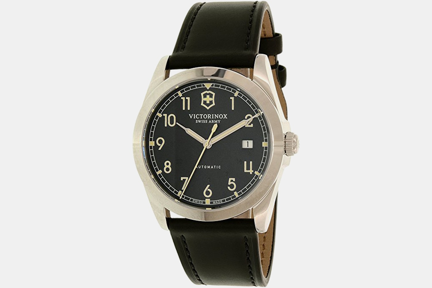 241586 (black dial, black leather strap)
