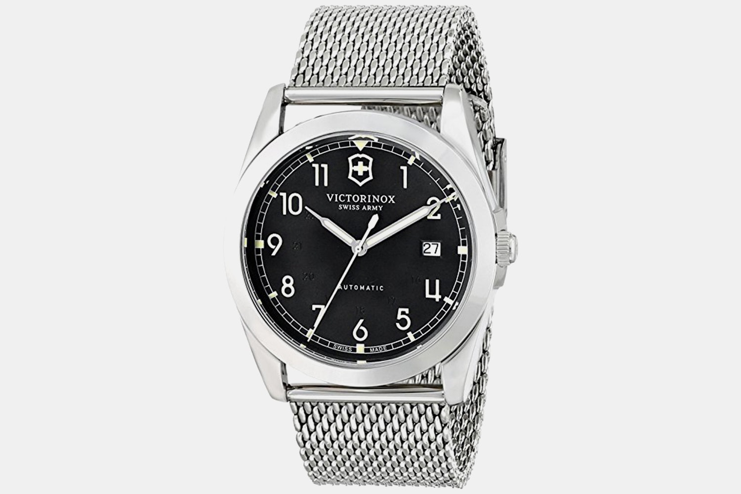 241587 (black dial, stainless steel bracelet)