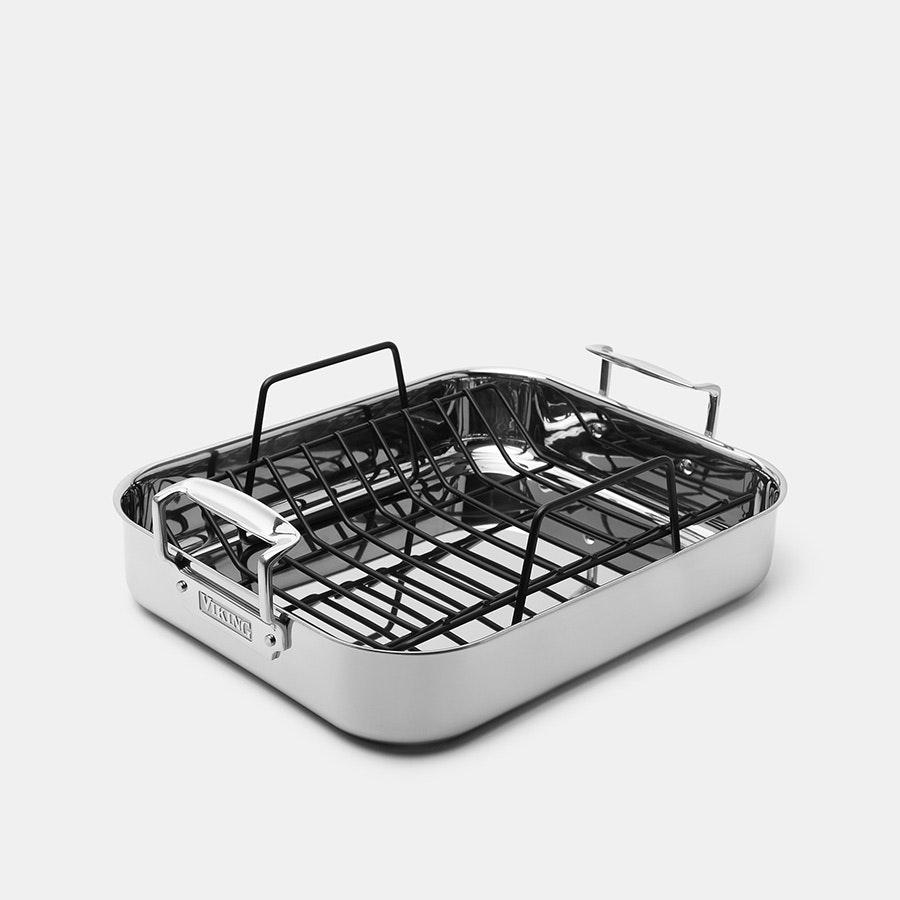 Viking 3-Ply 16-Inch Roasting Pan & Rack