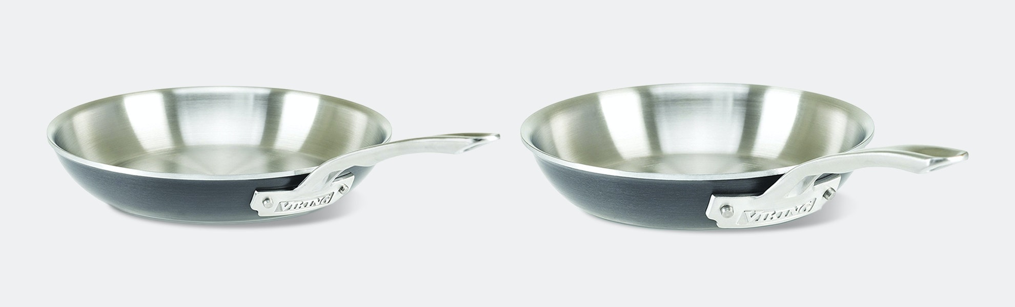 Viking Hard Stainless 5-Ply Fry Pans