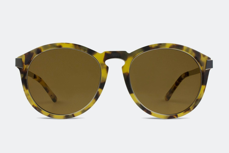 Yellow frame w/ brown lenses