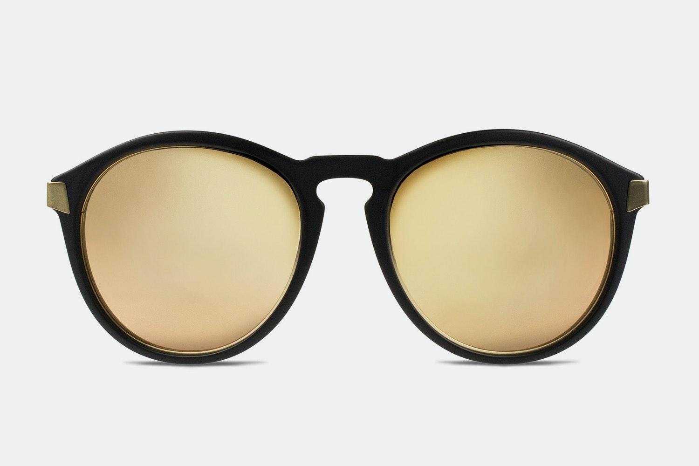 Matte black frame w/ gold mirror lenses (+ $40)