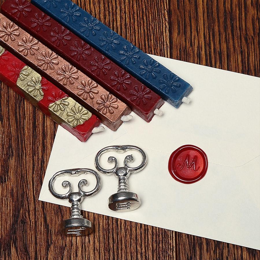 Vintage Alphabet Wax Seals Set