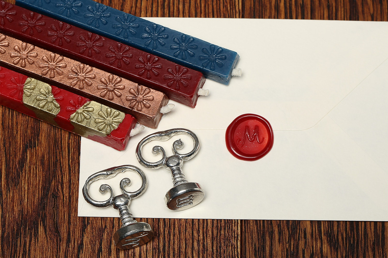 Vintage Alphabet Wax Seals Set