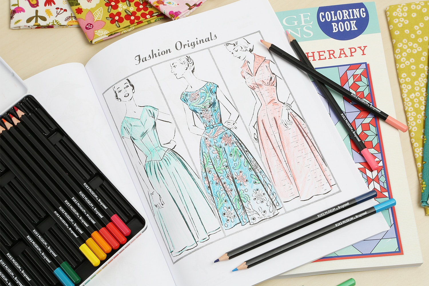 Vintage Notions Coloring Book Bundle