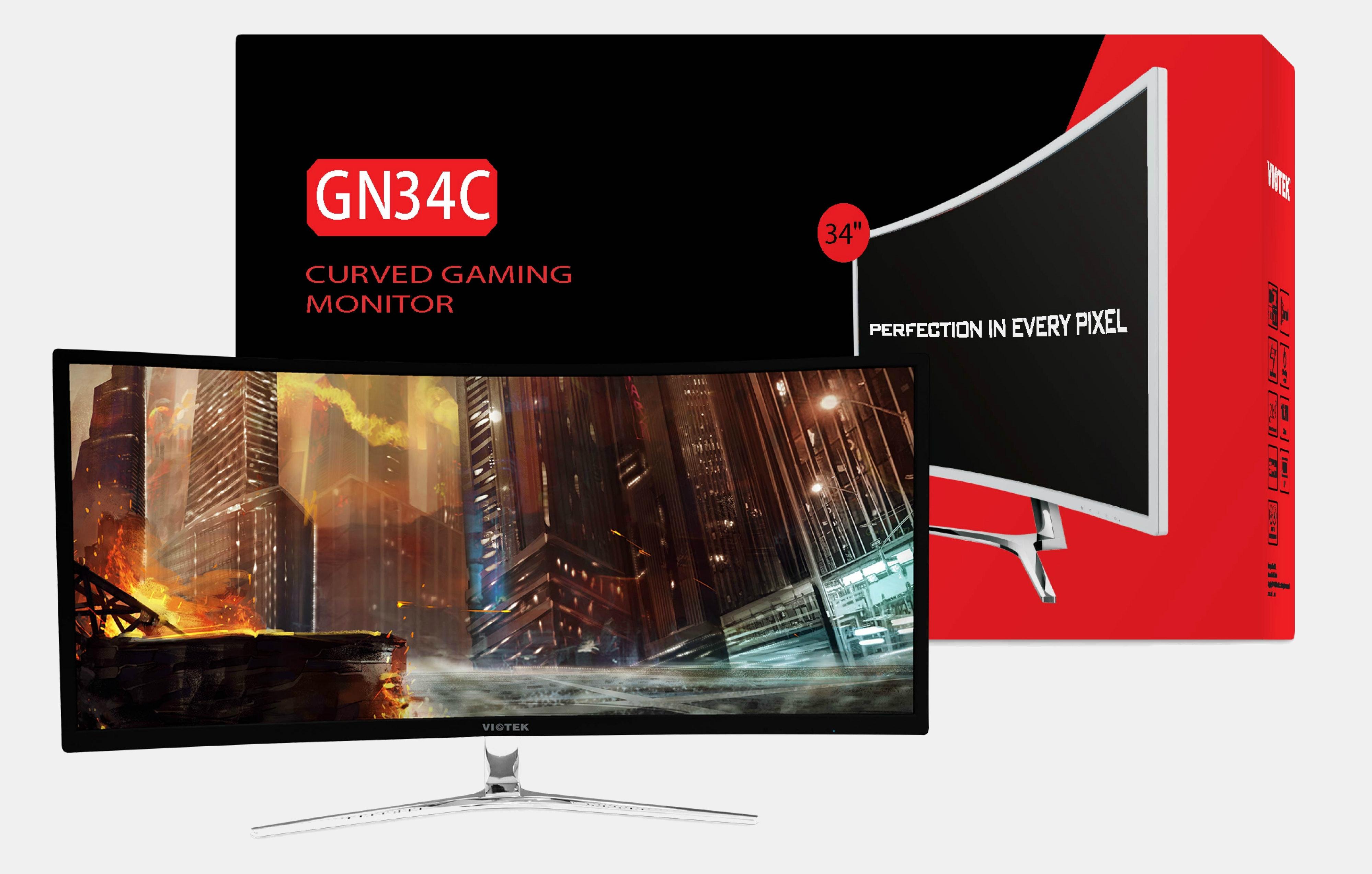 Viotek 34-Inch 1440p Curved 100Hz Gaming Monitor
