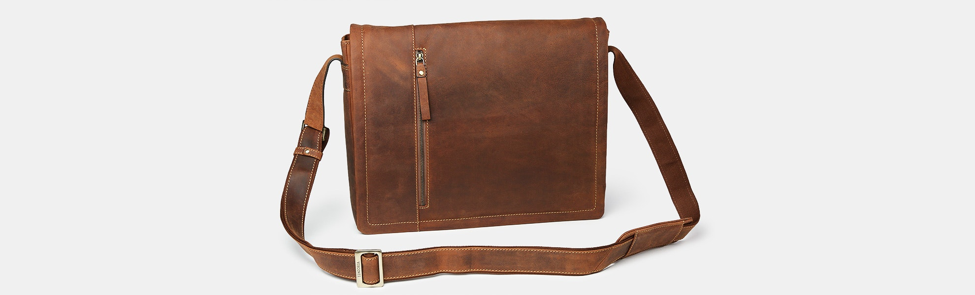 Visconti Foster Leather Laptop Messenger Bag