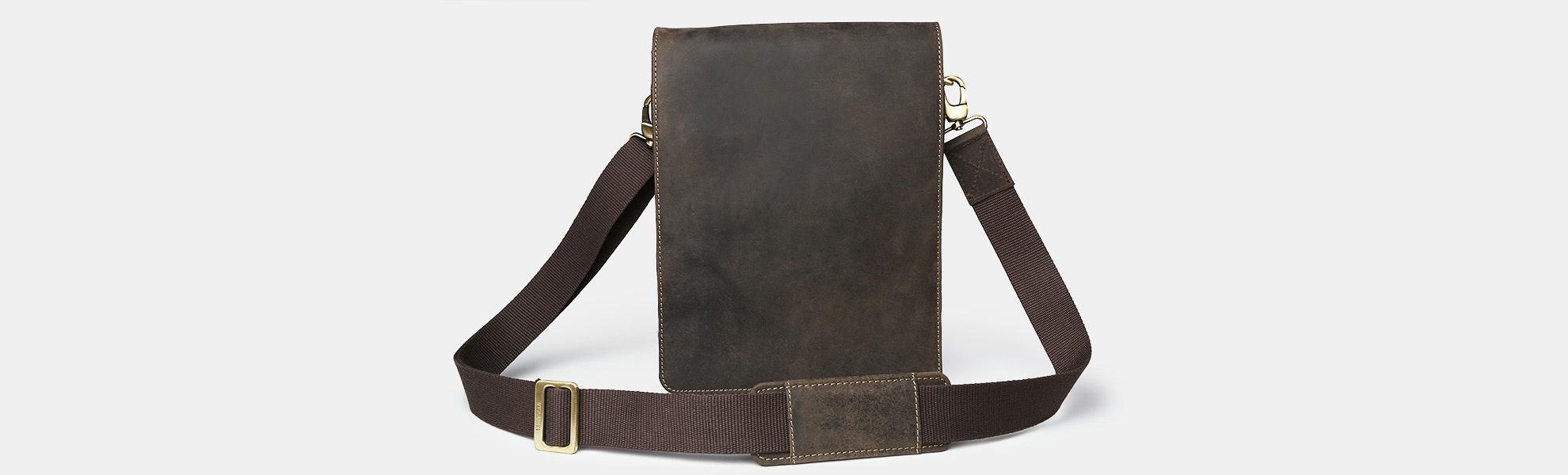Visconti Leather Leo Messenger Bag