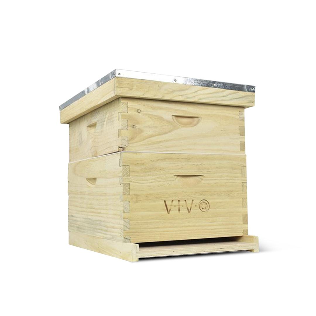 Vivo Complete Beekeeping Beehive Box (20 Frames)